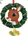 Rudolph by Department 56 4057978 Rudolph In A Wreath Ornament