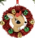 Rudolph by Department 56 4057980 Clarice In A Wreath Ornament