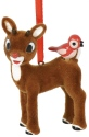 Rudolph by Department 56 6000499 Rudolph with Bird Flocked Ornament