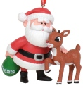 Rudolph by Department 56 6011025 Rudolph and Santa Ornament
