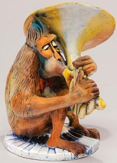 DaNisha Sculpture M014 Bennie Monkey No Lid