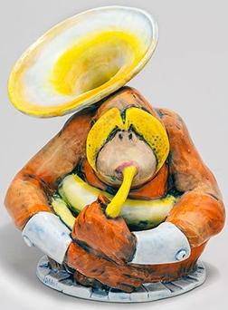 DaNisha Sculpture M016 Otis Monkey No Lid