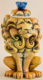 DaNisha Sculpture M020 Valentino Lion with Lid