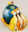 DaNisha Sculpture M002 Something Fishy Cat with Lid