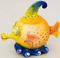 DaNisha Sculpture M006 Bubblehead Fish with Lid