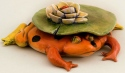 DaNisha Sculpture M007 Alado Lily's Frog Hat with Lid