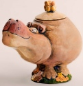 DaNisha Sculpture M012 Delila Hippo with Lid