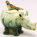 DaNisha Sculpture M028 Samson & Delila Rhino with Lid
