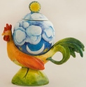 DaNisha Sculpture M030 Sunrise Rooster with Lid