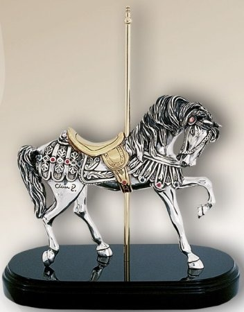 D'Argenta 7509 Carousel Horse by Claudio Rodriguez