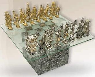 D'Argenta p1 Chess Set by Jose Luis Pinal Ltd Ed 50