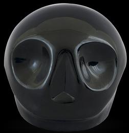 D'Argenta Studio Resin Art RV29Black Tzompantli 1 - Skull - Black