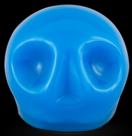 D'Argenta Studio Resin Art RV29Blue Tzompantli 1 - Skull - Blue