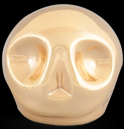 D'Argenta Studio Resin Art RV29Gold Tzompantli 1 - Skull - 24K Gold Plated