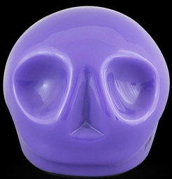 D'Argenta Studio Resin Art RV29Purple Tzompantli 1 - Skull - Purple