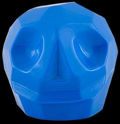 D'Argenta Studio Resin Art RV31Blue Tzompantli 2 - Skull - Blue