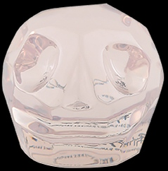 D'Argenta Studio Resin Art RV31Clear Tzompantli 2 - Skull - Clear