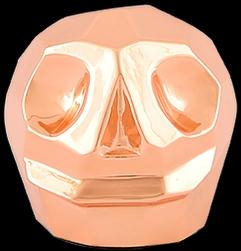 D'Argenta Studio Resin Art RV31Copper Tzompantli 2 - Skull - Copper Plated