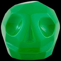 D'Argenta Studio Resin Art RV31Green Tzompantli 2 - Skull - Green