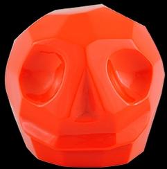 D'Argenta Studio Resin Art RV31Orange Tzompantli 2 - Skull - Orange