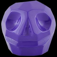 D'Argenta Studio Resin Art RV31Purple Tzompantli 2 - Skull - Purple