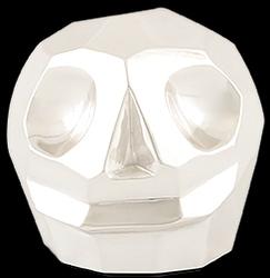 D'Argenta Studio Resin Art RV31Silver Tzompantli 2 - Skull - .999 Silver Plated