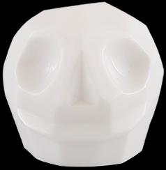 D'Argenta Studio Resin Art RV31White Tzompantli 2 - Skull - White