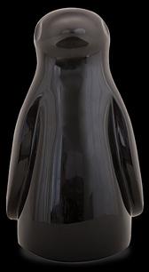D'Argenta Studio Resin Art RV33Black Totontli - Penguin Bird -Black