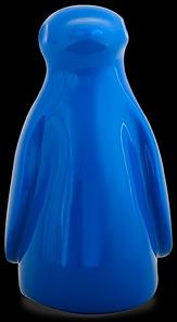 D'Argenta Studio Resin Art RV33Blue Totontli - Penguin Bird -Blue