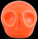 D'Argenta Studio Resin Art RV29Orange Tzompantli 1 - Skull - Orange