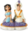 Disney by Department 56 6002269 Aladdin and Jasmine on Carpet Salt and Pepper