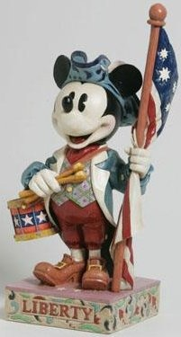 Jim Shore Disney 4004151 with Drums and Flag