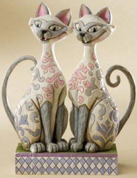 Jim Shore Disney 4007215 Si and Am Siamese Cats