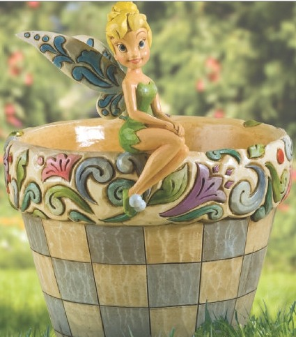 Jim Shore Disney 4013258 Tink Flower Pot Flower Pot