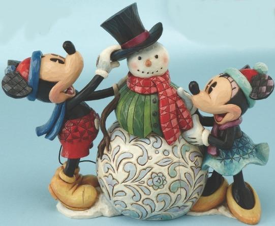 Jim Shore Disney 4013968 Dressing Up For the Holidays