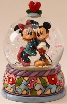 Jim Shore Disney 4015350 Mickey & Minnie Waterball