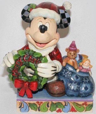 Jim Shore Disney 4016565 Santa Mickey with Wreath