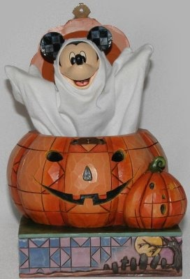 Jim Shore Disney 4016580 Ghost Mickey in Pumpkin