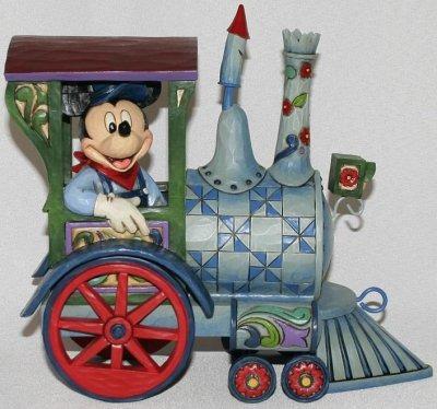 Jim Shore Disney 4016585 Mickey Mouse Pull Train