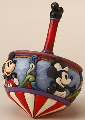 Jim Shore Disney 4016586 Mickey Mouse Spin Top