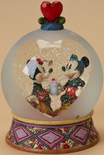 Jim Shore Disney 4020798 Sweetheart Sundaes 100mm Waterball