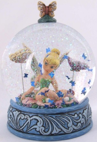 Jim Shore Disney 4020799 Butterfly Kisses 100mm Waterball