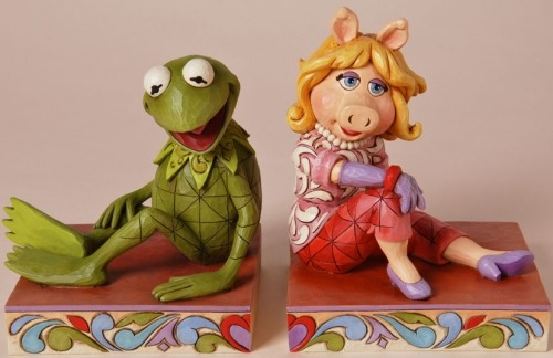 Jim Shore Disney 4026093 Kermit & Piggy Bookends