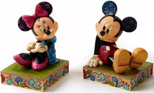 Jim Shore Disney 4026094 Minnie & Mickey Bookends