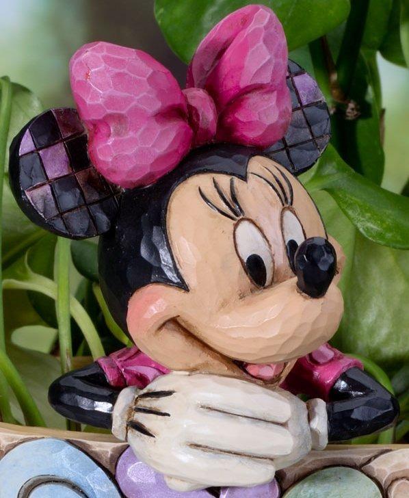 Jim Shore Disney 4027151 Minnie Cachepot Plant Stake