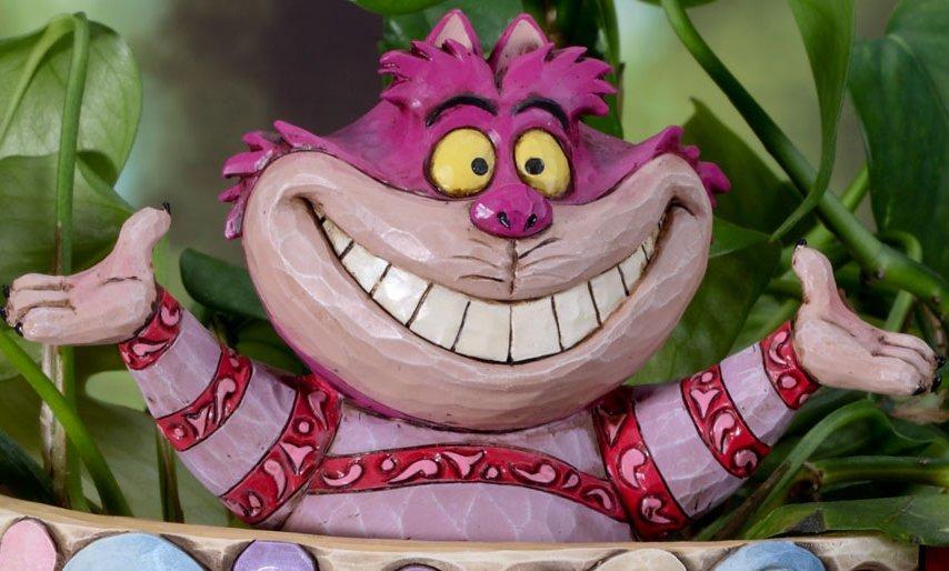 Jim Shore Disney 4027155 Cheshire Cat Cachepot Plant Stake
