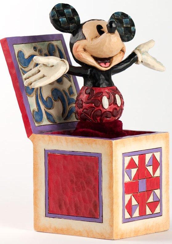 Jim Shore Disney 4027950 Mickey In The Box Figurine