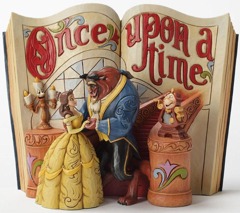 Jim Shore Disney 4031483 Storybook Beauty and The Beast