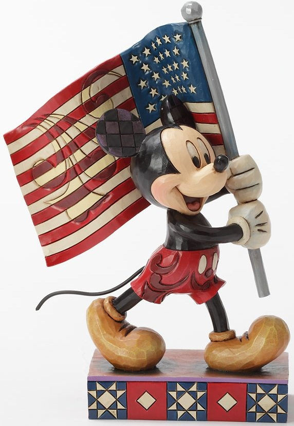 Jim Shore Disney 4032875 Mickey with Flag