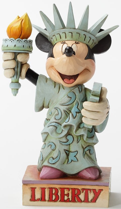 Jim Shore Disney 4032877 Minnie as Statue of Liberty